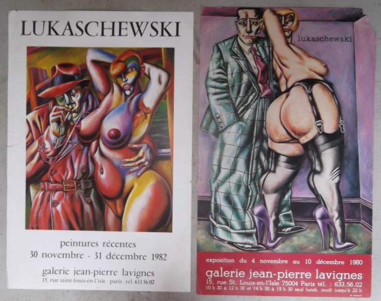 2 Galarie Jean-Pierre Lavignes exhibition posters