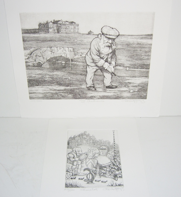 2 Charles Bragg signed lithographs