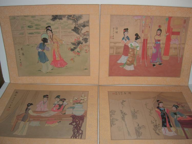 4 beautiful Japanese prints