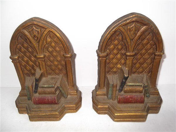 Pair of Syroco Wood bookends