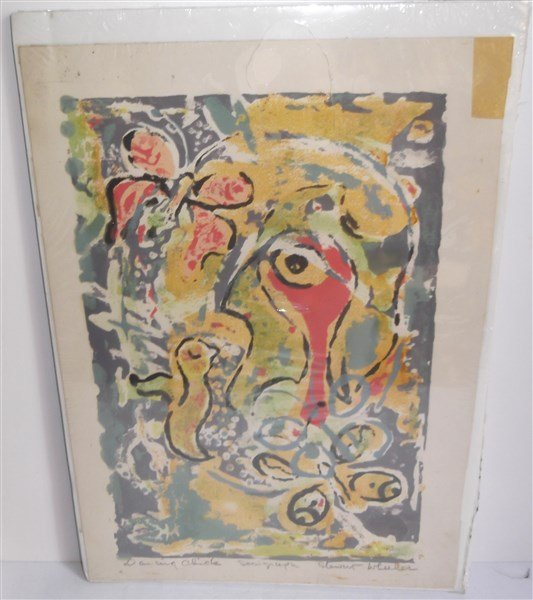 Abstract Serigraph signed Stewart Wheeler