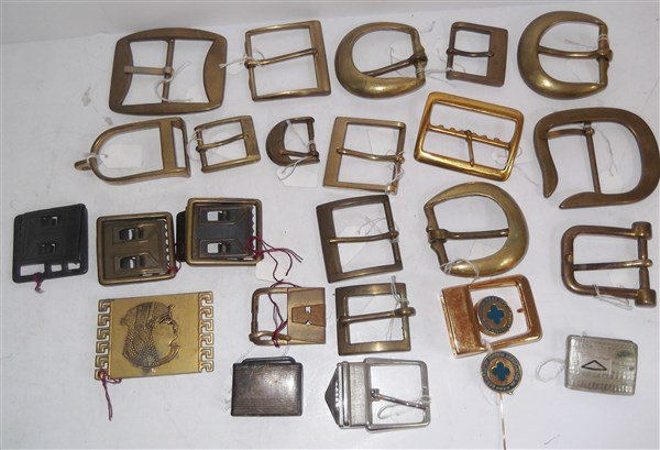 Collection of 24 belt buckles
