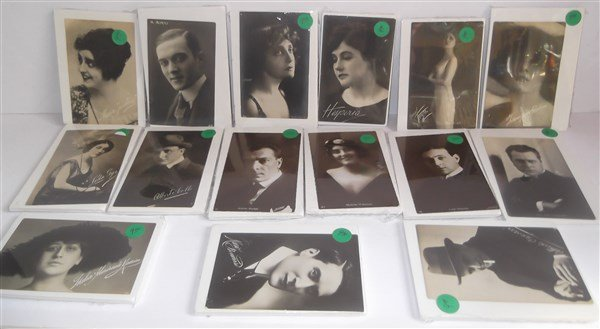15 portrait film star postcards