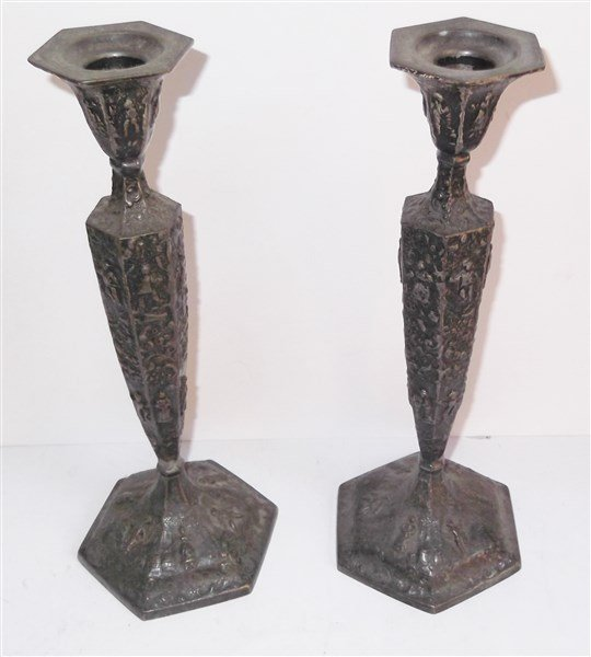 Pair of candlesticks by The Barbour Silver Co.