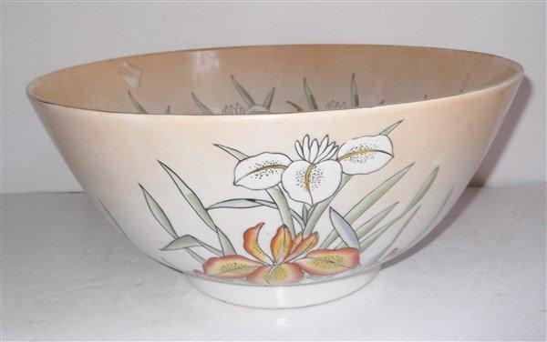 Large Oriental fruit bowl.