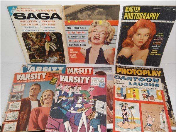Collection of 9 assorted magazines
