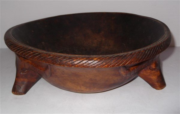 Large wood carved bowl