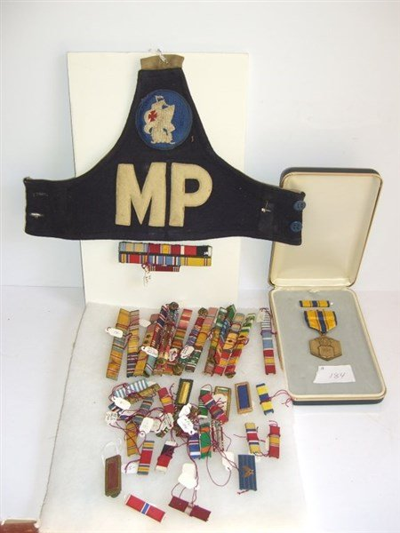 collection of assorted WWII Military pins