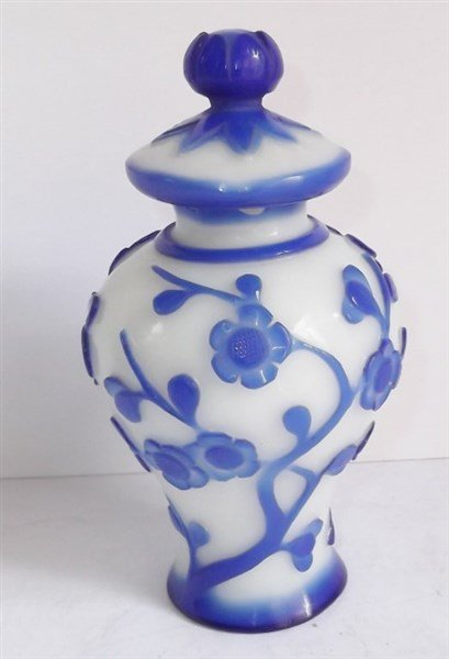 19th c. Peking glass jar