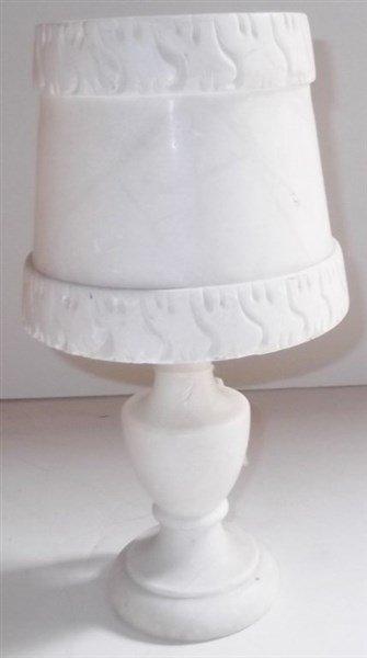 C. 1920 white marble lamp