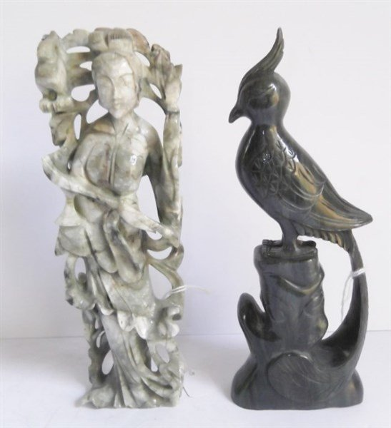2 piece carved Jade lot
