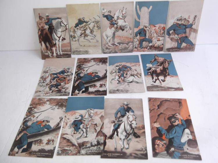 13 Vintage The Lone Ranger cards