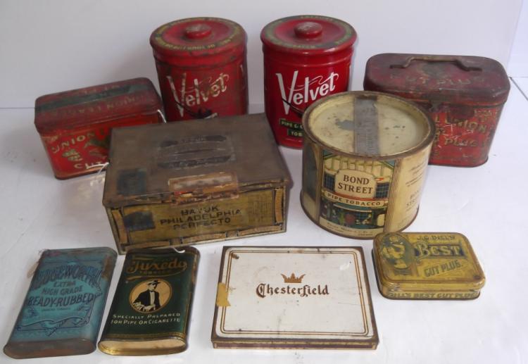 10 tobacco tins