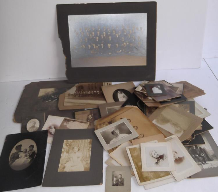 Collection of 50 antique photos