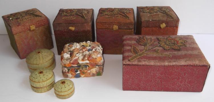 9 jewelry boxes & trinket boxes