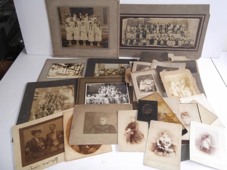 Collection of 50 antique photos