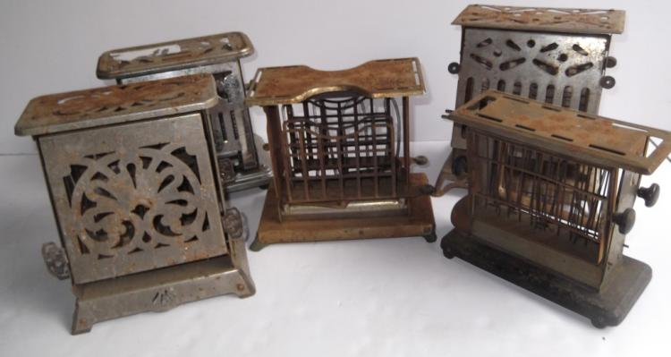 5 antique toasters
