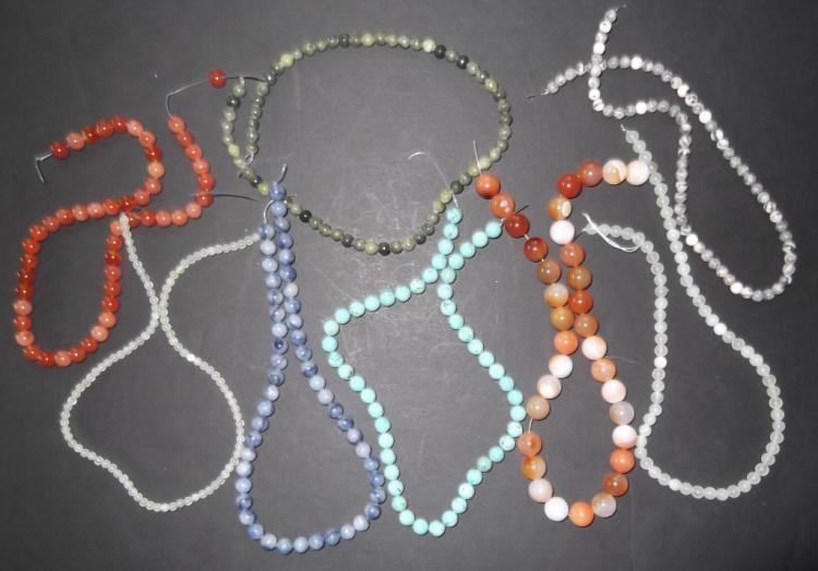 8 strands of high quality polished natural stones