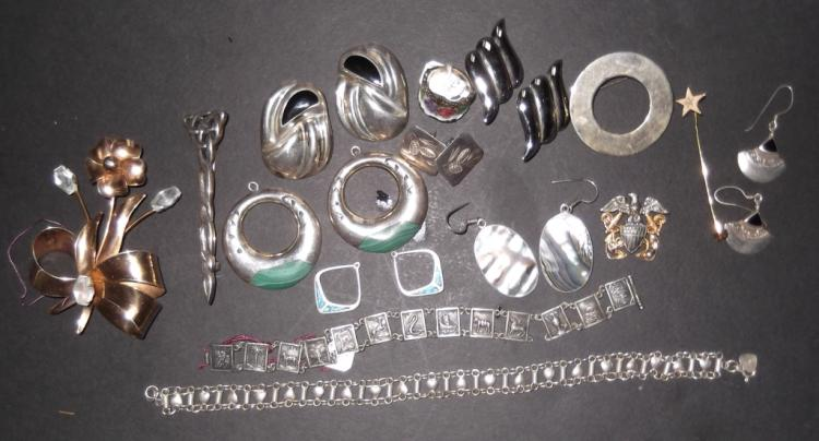 Sterling jewelry lot