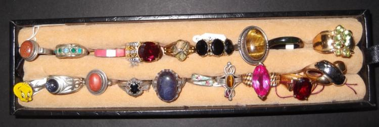 19 costume jewelry rings