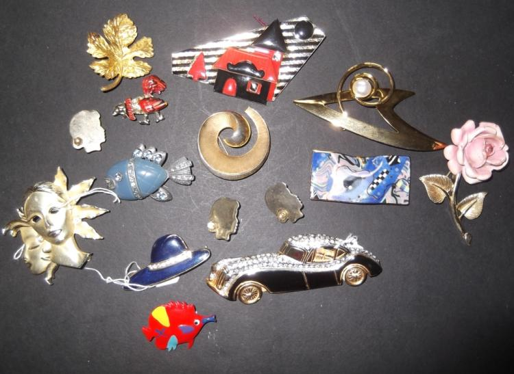 15 1980's/1990's pins/brooches