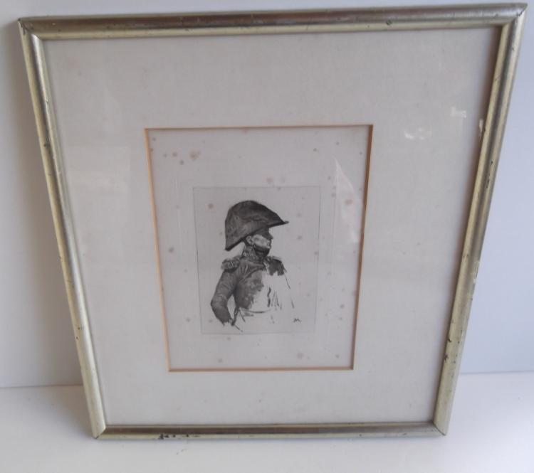 Engraving of a general by Charles Louis Kratke