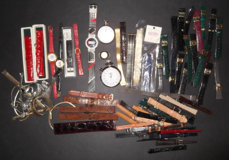 Large collection of assorted watch bands