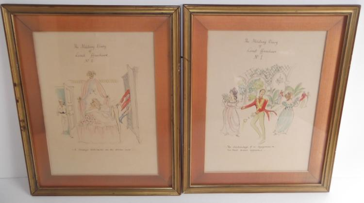 Pair of original caricatures