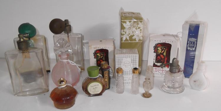 18 vintage perfume bottles
