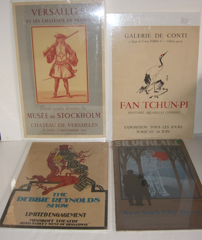 4 advertising theatre/exhibition posters