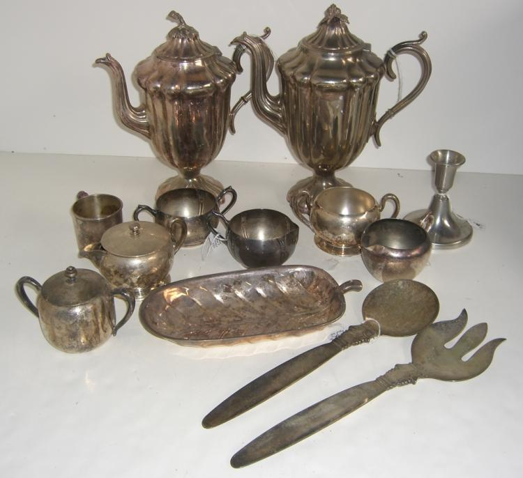 13 silver plate items