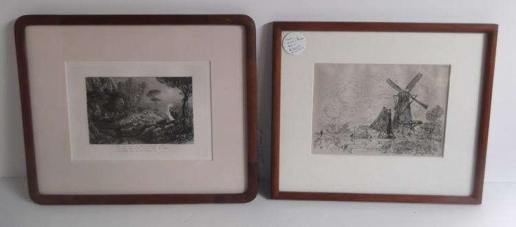 2 original etchings