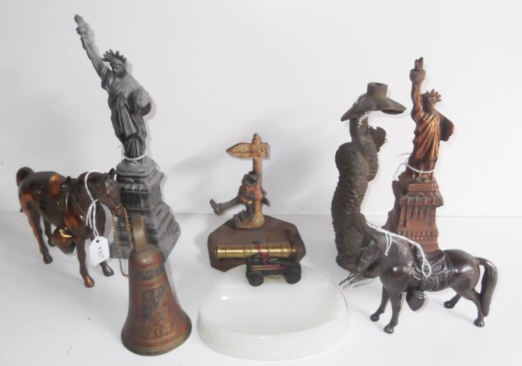 8 piece assorted statue lot