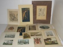 15 19th/20th c. engravings/etchings & prints