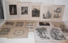 15 19th/20th c. engravings/etchings