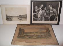 3 19th/20th c. bookplate engravings/etchings