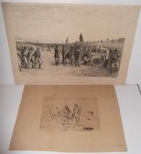 2 war scene prints