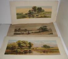 3 piece chromolithograph/lithograph lot