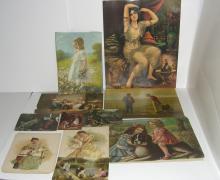 11 19th/20th  c. chromolithographs & prints