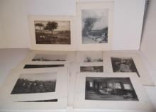 25 18th/19th c. book plate engravings/etchings
