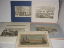 10 bookplate engravings/etchings