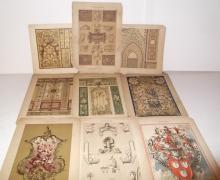 9 19th c. bookplate designs