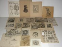 20 18th/19th c. bookplate engravings/etchings