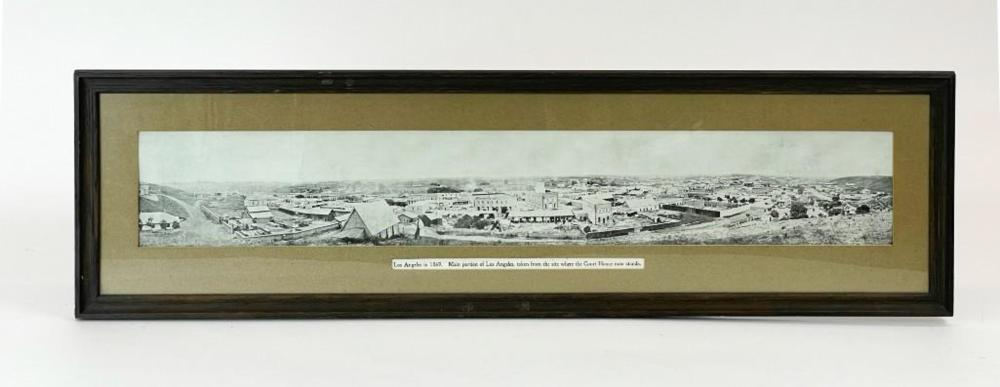 Panoramic Photo of Los Angeles in 1869 Joe Duncan Gleason (1881-1959) Collection