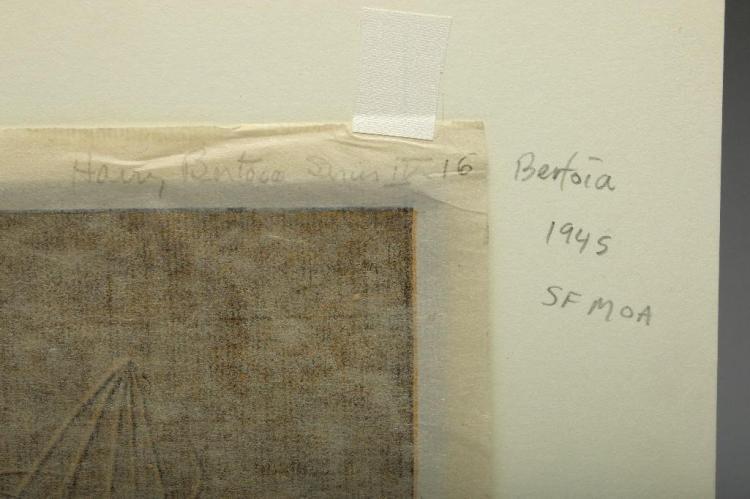 Harry Bertoia Pair Monotype Print on Rice Paper SFMOA