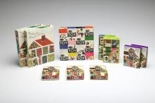 Large Group MCM Charles Eames House of Cards Box Sets