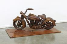 1948 EL Panhead Harley Davidson Model Wood Carving