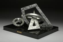 Ellie Riley Lyrical Expression 1994 Aluminum Sculpture