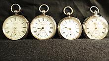 A Swiss pocket watch in silver (825), case