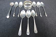 An HM Georgian silver salt spoon of 1835, five HM